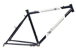 """Bontrager Race 26"""" Mountain Bike Frame 19"""" Blue Cantilever Vintage Steel MTB"""