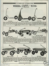 1939 PAPER AD Gendron Skippy Scooter Racer Coaster Wagon Dictator Irish Mail