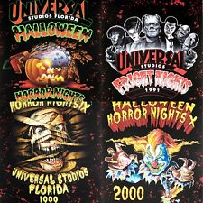 More details for 4x universal halloween horror nights 20x16inch posters = 1991, 1992, 1999 & 2000