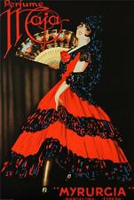 Perfume Maja Myrurgia Vintage Poster Fine Art Lithograph Robert Falucci S2