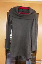 Pullover Longpullover Rollkragenpullover Damen Gr. XS 34 dunkelbraun neu