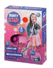 PARTY Star Light Up MUSICALE MICROFONO CON SUPPORTO BASTONE KIDS telefono musica, Ragazze