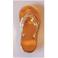 14K Solid Rose Gold Diamond Slipper/Flip Flop Pendant. New C426-10