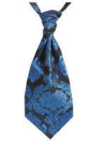 Corbata pañuelo/Ascot de hombre azul