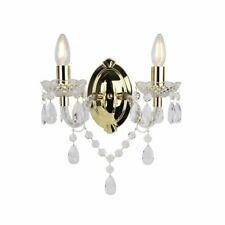 Marie Therese 2 Lights Gold & Clear Wall Bracket Chandelier Light