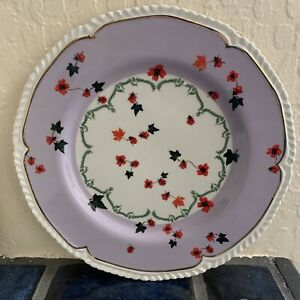 """ANTHROPOLOGIE NATURE TABLE by Lou Rota Ladybugs 9"""" Salad Luncheon Plate"""