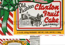 Claxton Old Fashioned Fruit Cake, 3 pounds PACK OF 1