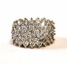 14k yellow gold womens cubic zirconia cz cluster ring 9.1g ladies estate vintage