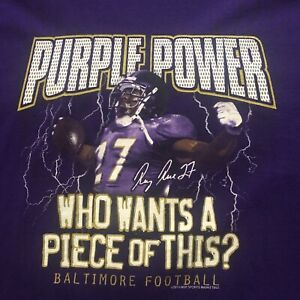 2010 Ravens Purple Power Ray Rice Tee Size XL