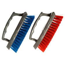 2 Pc Iron Paint Handle Scrub Brush Hard Bristles Scrubber Floor Carpet Cleaning