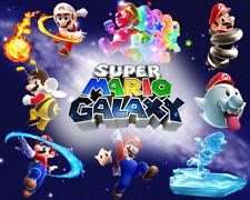 "Nintendo Wii U Mario Galaxy  Photo Poster 8.5"" x 11"" Game Room Mancave #3"