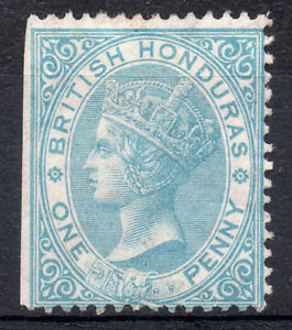 British Honduras QV SG1 1d.  Pale Blue - Unused No Gum