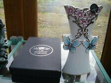 The Leonardo Collection Butterflies and diamante slim vase