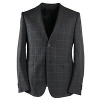 NWT $1445 Z ZEGNA Slim-Fit 'Drop 8' Gray Check Wool Suit 44 R (fits 42)