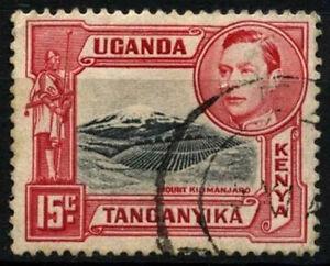 Kenya Uganda Tanganyika 1938-54 SG#137a 15c Black & Rose-Red P13.75x13.25#D31146