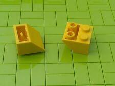 NEW LEGO - 10 x YELLOW 2x2 INVERTED SLOPE BRICK 45 3660 -