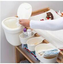 Ikea Onsklig Storage Baskets Changing Table Set of 4 White New Baby Organiser