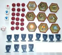 Lot of Spare Parts -  Heroscape Glyphs, Wound, Order, Dice (Incomplete Spares)