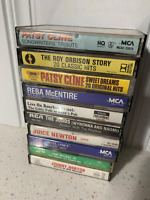 VTG  70's-80's Country Cassette Tapes Lot  -  10 Albums - UnTested  (Lot H)