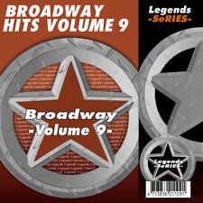 Broadway Musical Karaoke CDG CDs Broadway Musicals Legends Vol 9 NEW 3 Day Ship
