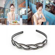 Women Wave-Shaped Rhinestone Toothed Hair Hoop Headband Hair Band Jewelry Trendy