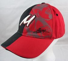 Mickey Mouse Baseball Hat Wdw Disney Cap Red Black Script