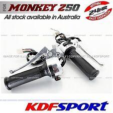 KDF LH RH LEFT RIGHT THROTTLE SWITCH LEVER GRIPS FOR HONDA MONKEY Z50 Z50J 50