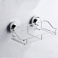 Suction Cup Adhesive Wall Mounted Bathroom shelf Households Rack I5A1