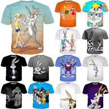 New Funny 3D T-shirt Lola Bugs Bunny Looney Tunes Women Men Cartoon Fashion Tops
