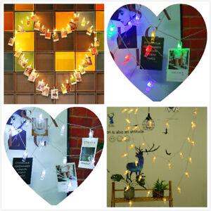 1.5M LED Hanging Photo Clip Peg String Lights Fairy Home Party LED Novelty Decor