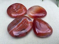 1 Carnelian Palm Stone Worry Soap Stone Carnelian Flat Stone Specimen Reiki Heal