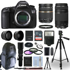 Canon EOS 5DS R DSLR Camera + 5 Lens Kit 28-75mm + 75-300mm + 500mm+ 32GB & More