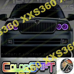 ORACLE Halo 2x HEADLIGHTS for Lincoln Navigator 03-06 ColorSHIFT LED 1.0