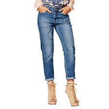 Cotton Mid-Rise Boyfriend Machine Washable Jeans for Women