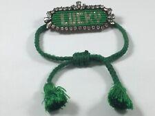 Authentic Swarovski By Hourouk Rare Irish Green Lucky Bracelet Rhinestones