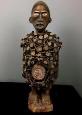 Old Tribale Grande Bakongo magico potere NAIL Fetish Figura --- Bakongo BN (SD