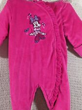 Disney Baby Infant One Piece Hooded Zip Up Winter Snow Suit Pink 3-6 mo Lined