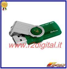 PENDRIVE G2 D101 KINGSTON 64 GB DATATRAVELER LÁPIZ DRIVE PEN USB MEMORIA USB