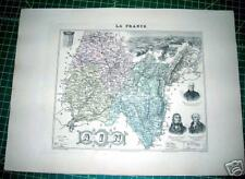 Ain France Antique 1885 French Provincial Map