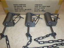 3 New  Duke DP Dog Proof Coon Traps  Lil Griz Type  Trapping  Raccoon 0510