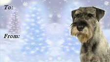 Schnauzer Christmas Labels by Starprint