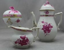 HEREND RASPBERRY CHINESE BOUQUET TEA SET 6185