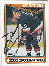 DOUG CROSSMAN Autographed Signed 1990-91 Topps card New York Islanders COA