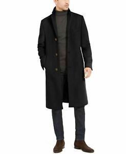 Mens RALPH LAUREN COLUMBIA Wool Cashmere Classic-Fit Overcoat Black Size 44R