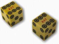 2 Vintage Casino Dice Bullseye Dice Marked Serial Numbered A37 Bulls Eye Rare
