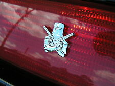 ~ NED KELLY CAR TAILLIGHT EMBLEM PAIR Chrome Small Metal CAR BADGES *New* Outlaw