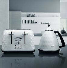 DeLonghi Brillante Kettle and Toaster Sets White Kettle & 4 Slice Toaster New