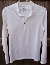 Nike Men's Fitted White Long Sleeve Dri-Fit 1/4 Zip *Size Small