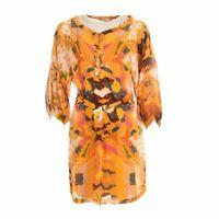 DIANE VON FURSTENBERG DVF Tunic Dress Yellow Size US 6 UK 10 BE 160