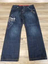 """Crown Holder RN 37980 Embroidered lined Jeans 100% Cotton Size: 40.  32"""" inseam."""